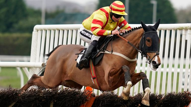 Brandon Castle in winning action at Plumpton
