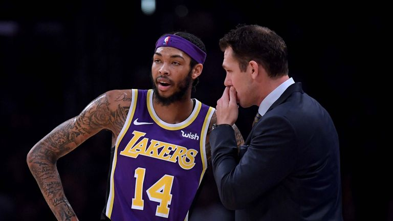 Ingram speaks to Lakers coach Luke Walton