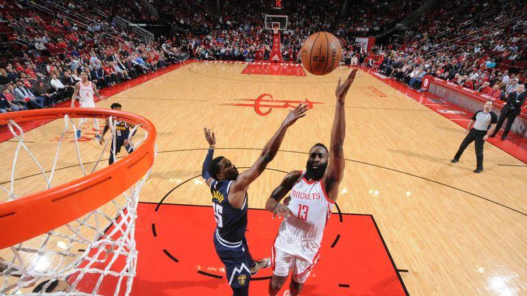 61ba79edb933 James Harden scores 32 points as Houston Rockets snap Denver Nuggets ...