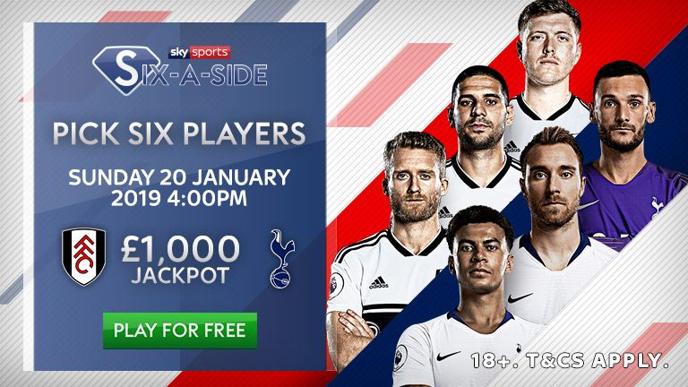 Fulham v Tottenham: Sky Sports Six-a-Side Elite Player report