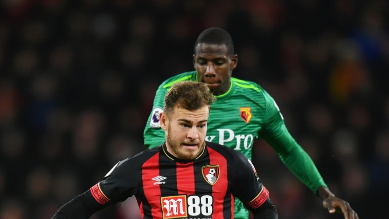 Abdoulaye Doucoure picked up a yellow card after a dangerous challenge on Ryan Fraser
