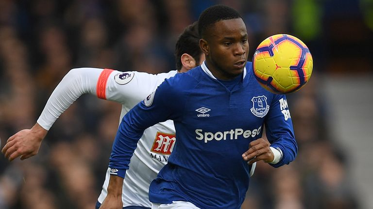 Ademola Lookman controls the ball
