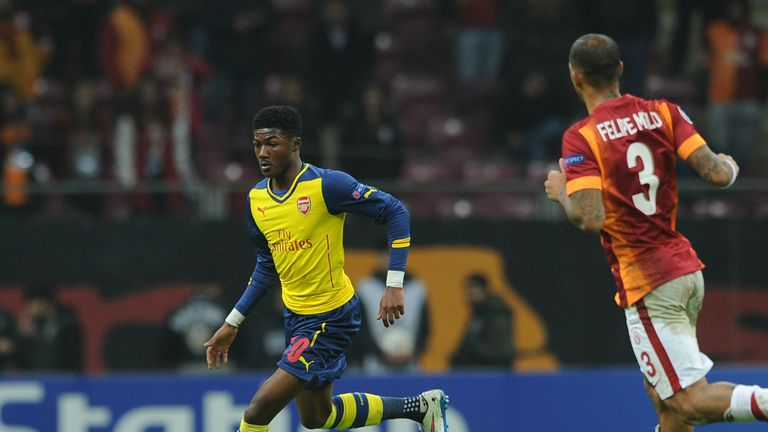 Maitland-Niles made his Arsenal debut against Galatasaray at the age of 17