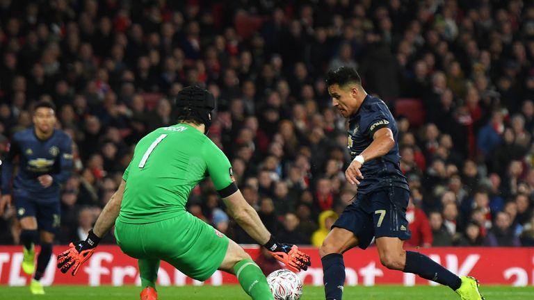 Alexis Sanchez scored past his former club