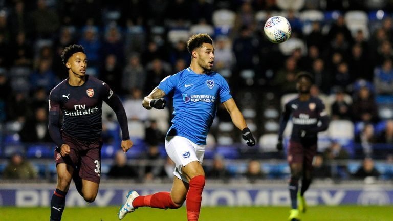 Andre Green struck in the final minute of added time to send Portsmouth into round four