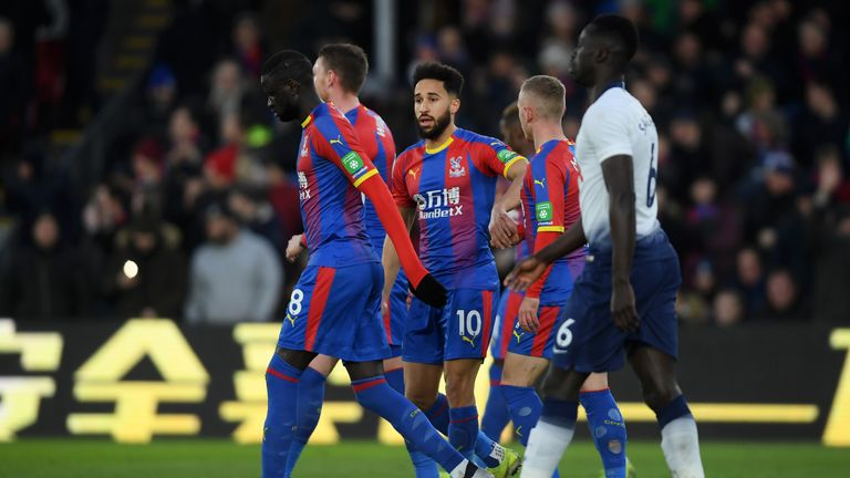 Andros Townsend doubled Palace's lead from the penalty against his former club Spurs
