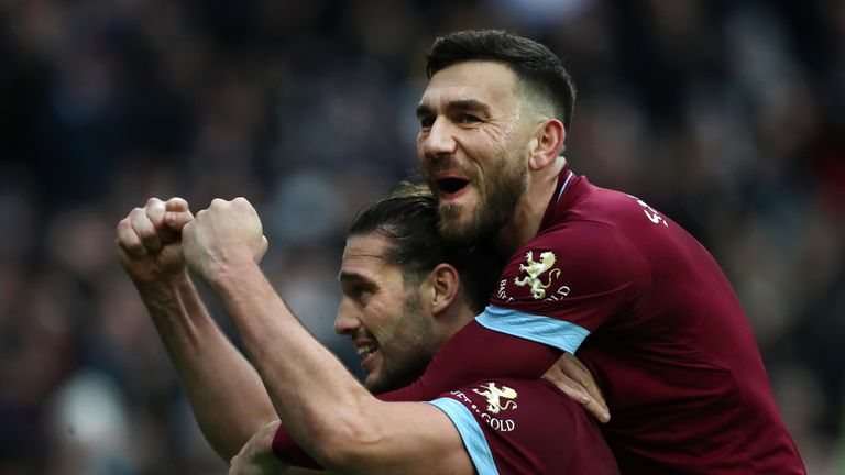 Andy Carroll Robert Snodgrass during the FA Cup Third Round match between West Ham United and Birmingham City at The London Stadium on January 5, 2019 in London, United Kingdom.