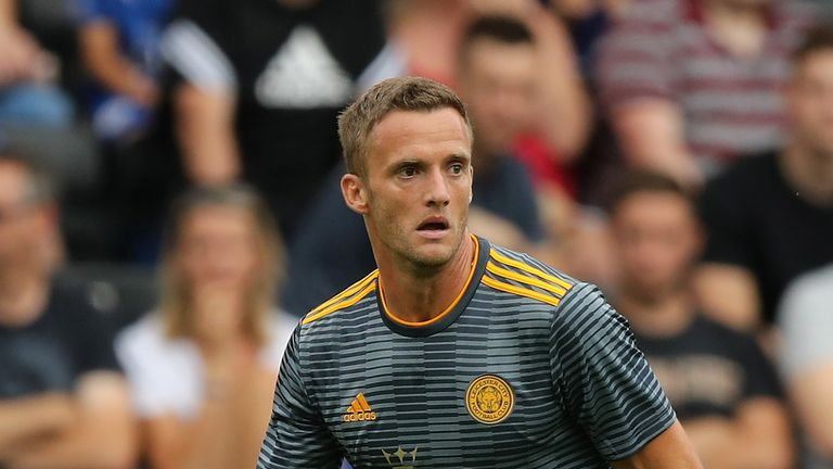 Andy King during the pre-season friendly match between Notts County and Leicester City at Meadow Lane on July 21, 2018 in Nottingham, England.