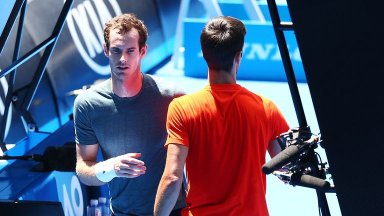 Andy Murray won just two games against Novak Djokovic before calling off their match early
