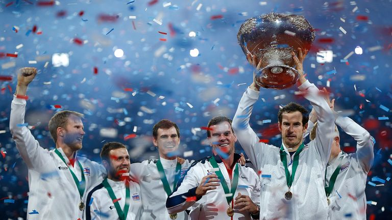 Murray led GB to the Davis Cup