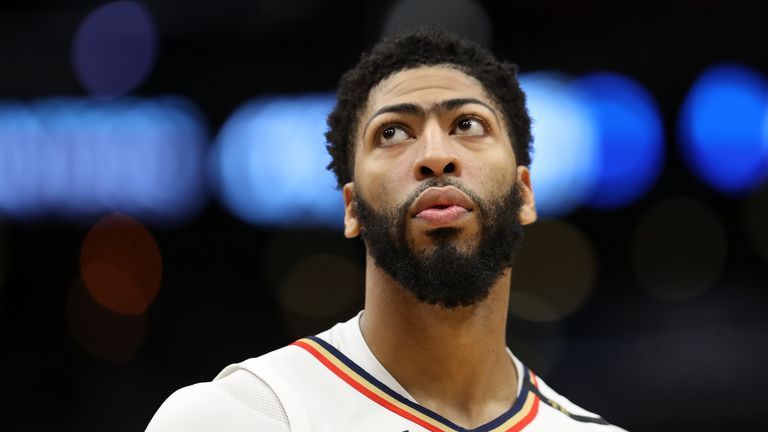 Anthony Davis during the game against the Cleveland Cavaliers
