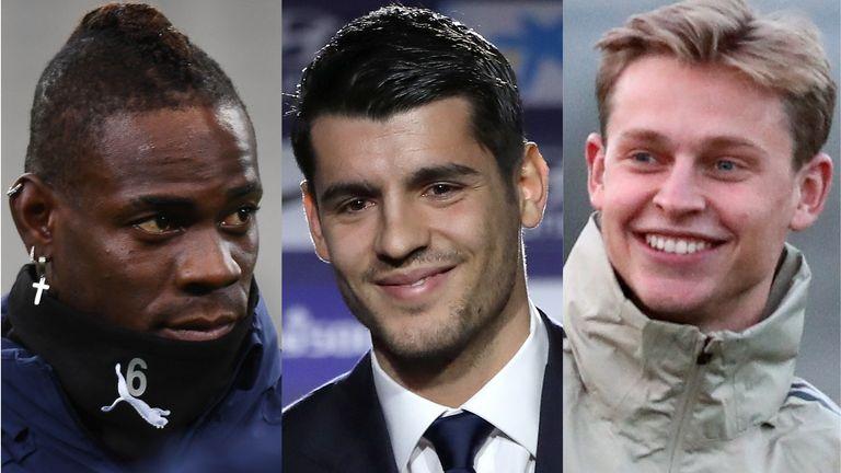 Mario Balotelli, Alvaro Morata and Frenkie De Jong have all secured moves