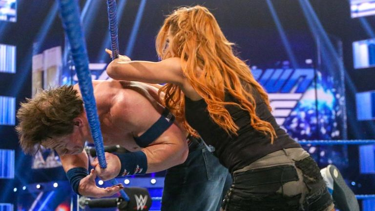 Becky Lynch had no problem stealing the glory of a high-level WWE star in John Cena this week