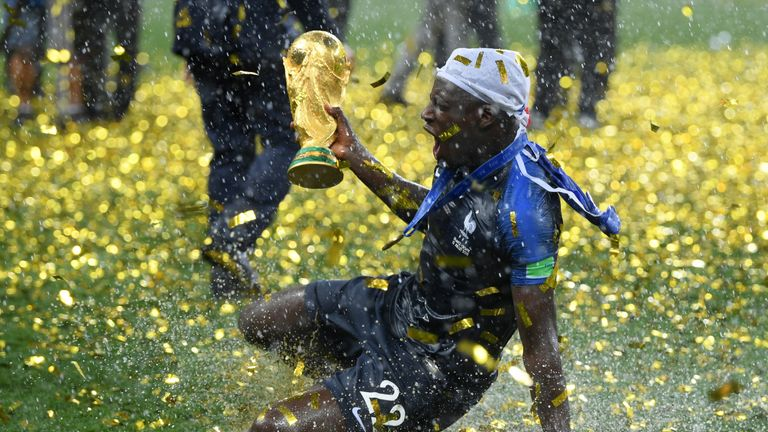 Benjamin Mendy won the World Cup with France in the summer
