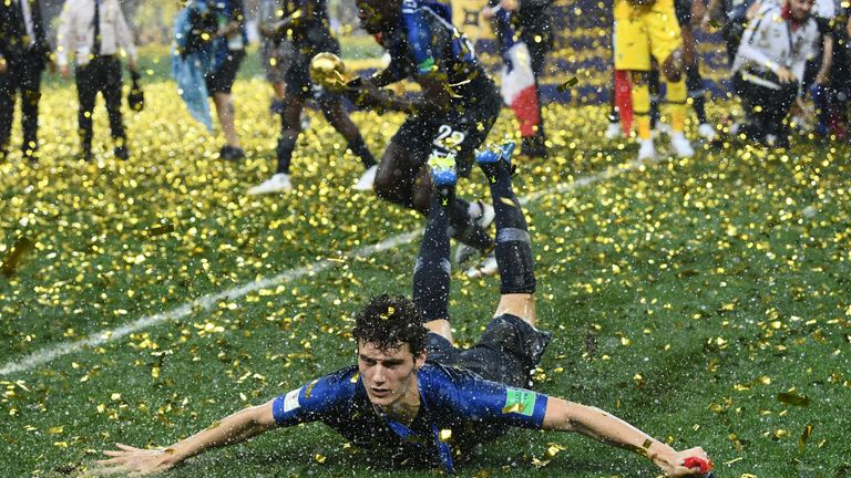 Pavard won the World Cup with France