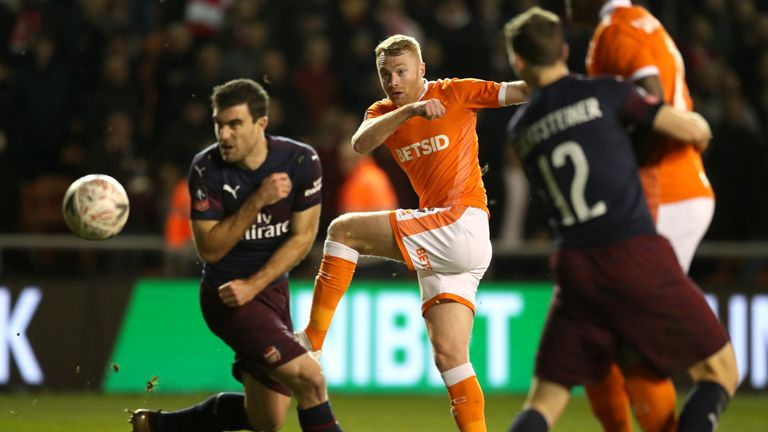 Blackpool fought hard in their 3-0 loss to Arsenal