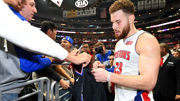Blake Griffin #23 of the Detroit Pistons s