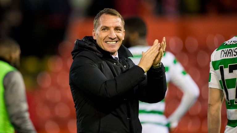 26/12/18 LADBROKES PREMIERSHIP.ABERDEEN v CELTIC (3-4).PITTODRIE - ABERDEEN.Celtic manager Brendan Rodgers at full-time