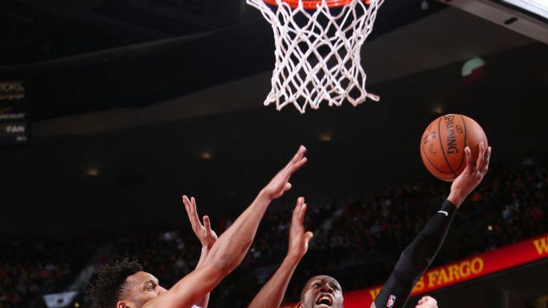 NBA BULLS AT TRAIL BLAZERS