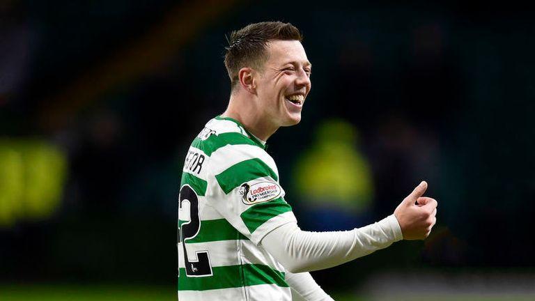 Celtic's Callum McGregor celebrates at full-time