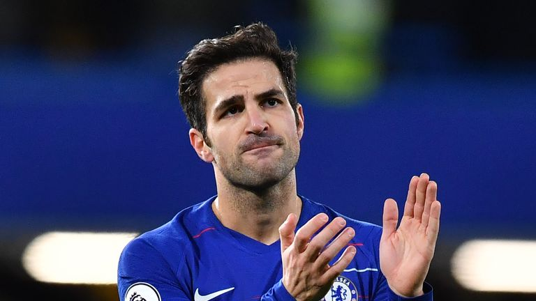Cesc Fabregas' Chelsea contract expires at the end of the season