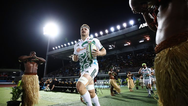 The Chiefs' Sam Cane leads his side out ahead of their Super Rugby clash with the Highlanders at ANZ National Stadium last year