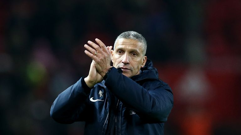 Chris Hughton was sacked on Monday after Brighton narrowly avoided relegation as the Premier League's fourth-bottom side