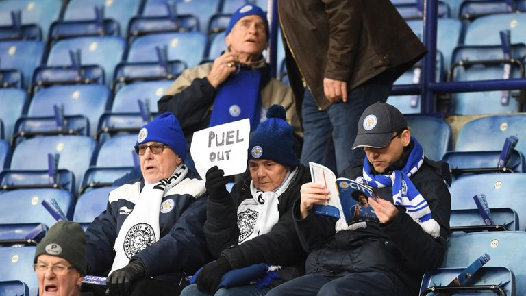 Some fans displayed their displeasure at Claude Puel ahead of the game