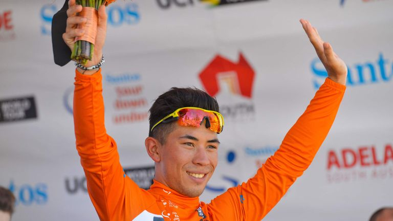 Australian star Caleb Ewan avoided a crash on the final lap to win the Down Under Classic