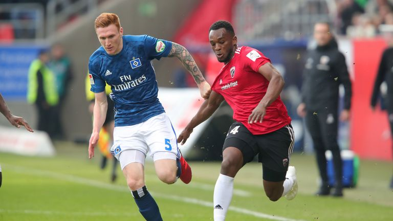 David Bates has made 15 league appearance for Hamburg this season