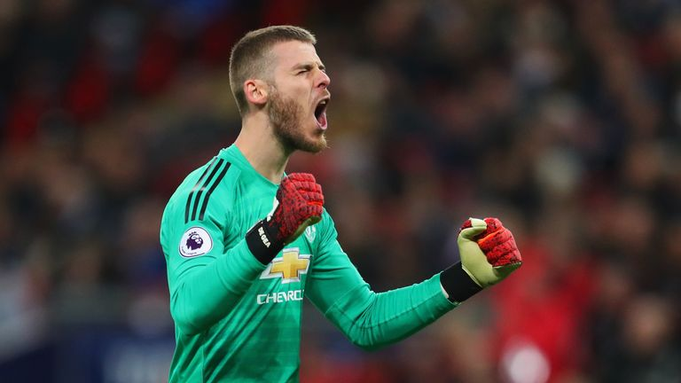 David De Gea made a number of brilliant saves with his legs to deny Tottenham