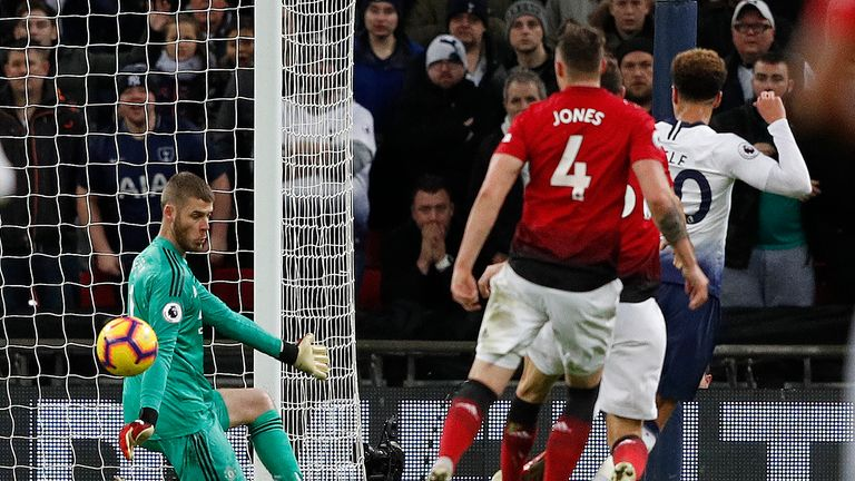 David de Gea saved for Manchester United against Tottenham