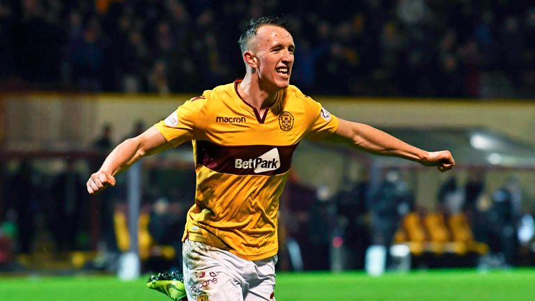 David Turnbull scored Motherwell's winner against Hibernian