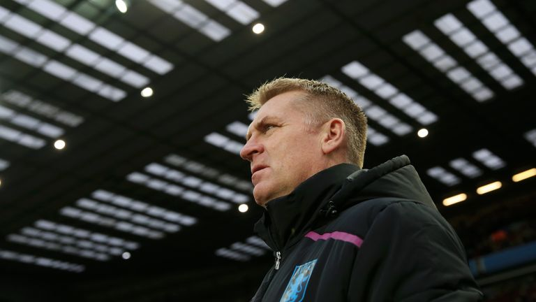 Villa manager Dean Smith during the FA Cup Third Round match between Aston Villa and Swansea City at Villa Park on January 5, 2019 in Birmingham, United Kingdom.