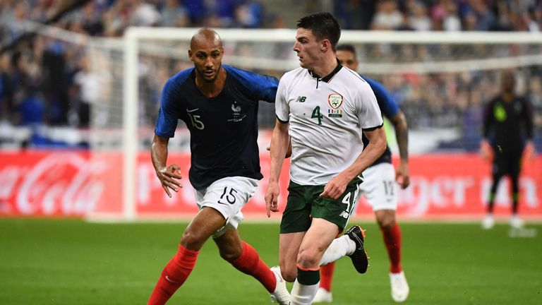 West Ham's Declan Rice has swapped Republic of Ireland for England