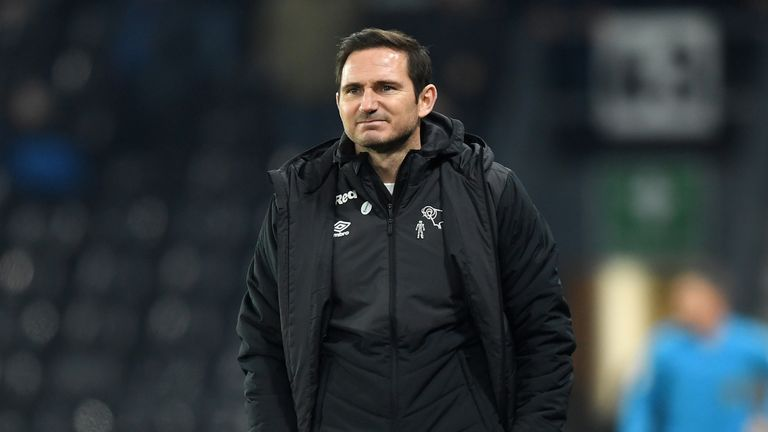Derby boss Frank Lampard was pleased with his side's second-half character