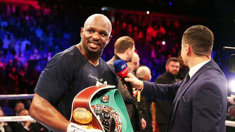 Dillian Whyte has assessed a crop of potential heavyweight opponents in 2019