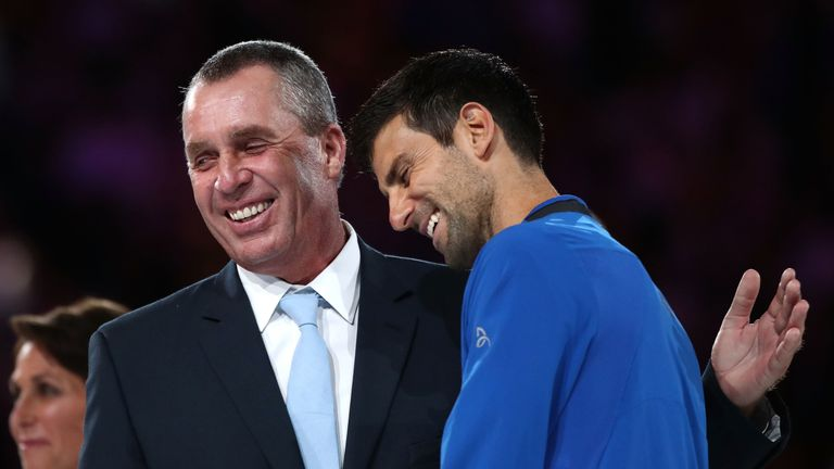 Djokovic was presented the Norman Brookes Challenge Cup by former two-time champion Ivan Lendl