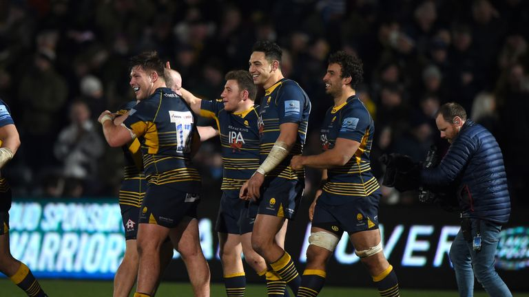 Duncan Weir kicked the winning conversion for Worcester at Sixways