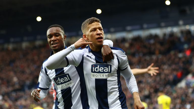 during the Sky Bet Championship match between West Bromwich Albion and Norwich City at The Hawthorns on January 12, 2019 in West Bromwich, England.