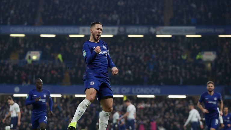 Eden Hazard scored Chelsea's second to turn the tie in their favour