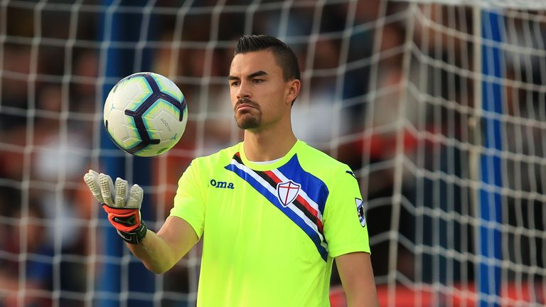 Emil Audero is on loan at Sampdoria from Juventus