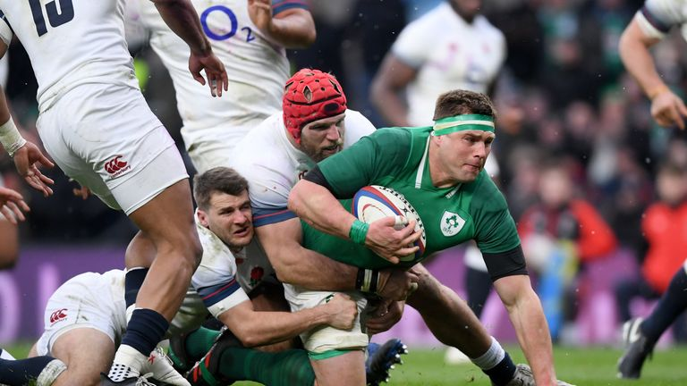 CJ Stander scored a try against England in last year's Six Nations victory for Ireland at Twickenham