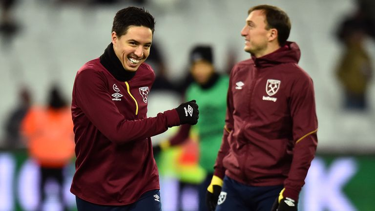 Samir Nasri could make his West Ham debut against Birmingham on Saturday