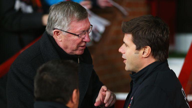 Sir Alex Ferguson and Mauricio Pochettino in 2013