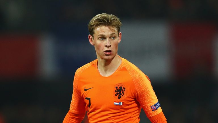 De Jong is set to join Barcelona in the summer from Ajax