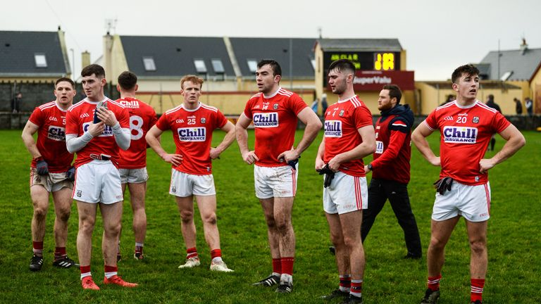 First blood to Clare: Cork footballers dejected after the McGrath Cup final loss to the Banner on Saturday