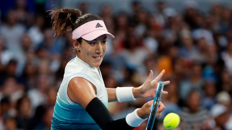 Garbine Muguruza moves into the second week in Melbourne for the fourth time in her career