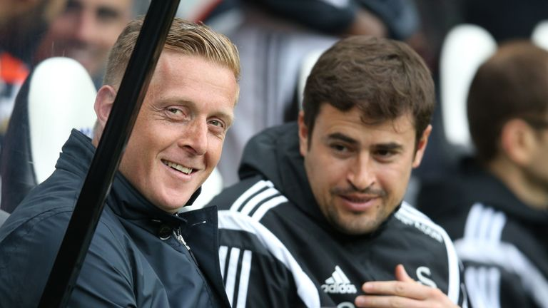 Garry Monk and Pep Clotet during their time together at Swansea City
