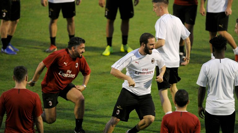 Gonzalo Higuain has not asked to leave AC Milan, says Gennaro Gattuso